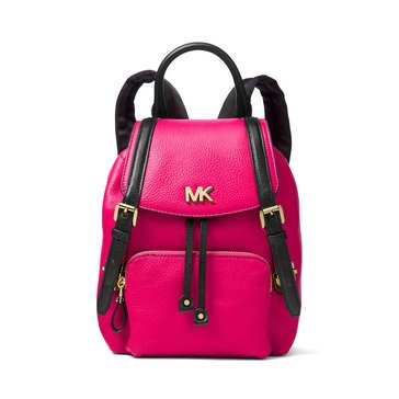 Michael Kors Mott Small Backpack Pebble Ultra Pink/ Black