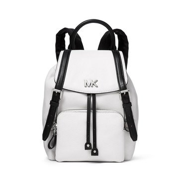 Michael Kors Mott Small Backpack Small Pebble Optic White/Black