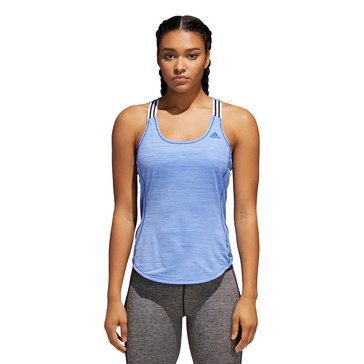 Adidas Women's Performance Strap Tank in Blue
