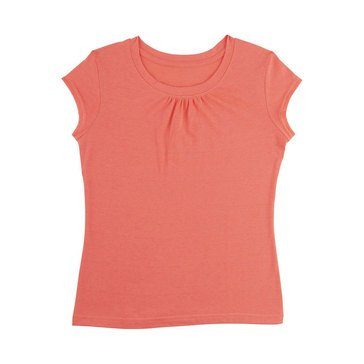 Yarn & Sea Toddler Girls' Crew Neck Tee Shirt, Fiery Coral