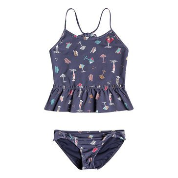 Roxy Little Girls' 2-Piece Tropicool Sunshine Tankini Swimsuit