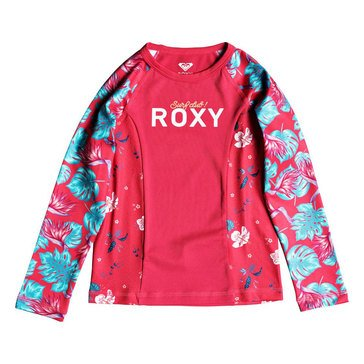 Roxy Little Girls' Printed Sleeve Rashguard