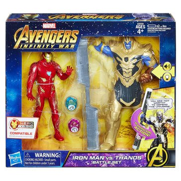 Marvel Avengers 6in Iron Man VS Thanos Battle Set