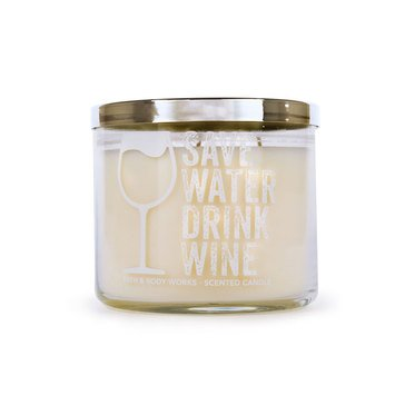 Bath & Body Works 3-Wick Candle - Save Water Drink Wine