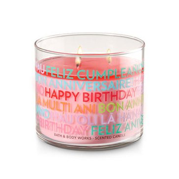 Happy Birthday 3-Wick Candle