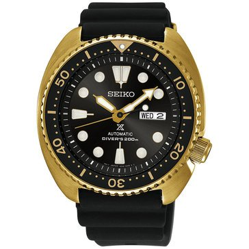 Seiko Men's Prospex Dive Silicone Black Strap Watch, 45mm