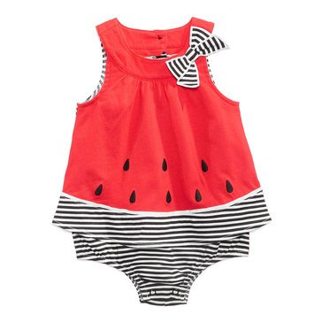 First Impression Baby Girls' Watermelon Sunsuit