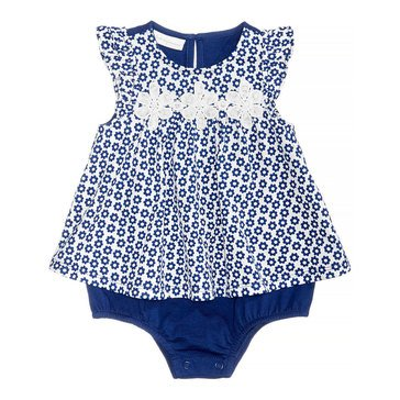 First Impression Baby Girls' Geo Floral Sunsuit