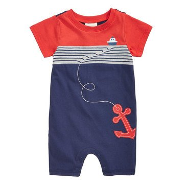 First Impression Baby Boys' Nautical Sunsuit Navy Sea