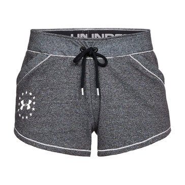 Under Armour Women's Throw Back Shorts in Grey/White