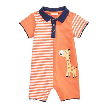 First Impression Baby Boys' Giraffe Sunsuit Sherbet