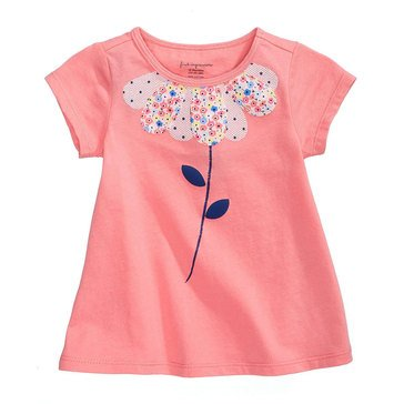 First Impression Baby Girls' Flower Petals Tee, Strawberry Pink