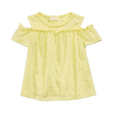 First Impression Baby Girls' Cold Shoulder Tee, Sundrop