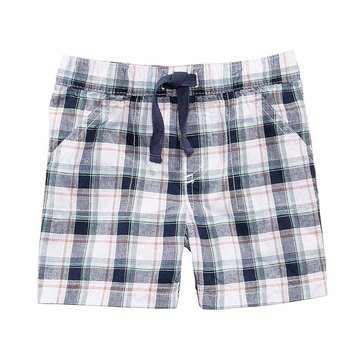 First Impression Baby Boys' Plaid Short, Bright White