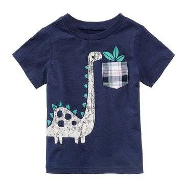First Impression Baby Boys' Dino Tee, Navy Nautical