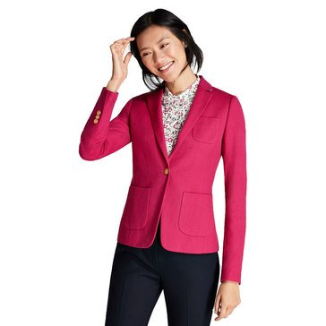 Brooks Brothers Women's Cotton/Linen One-Button Blazer