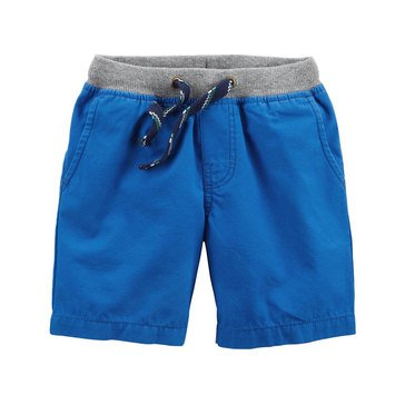 Carter's Little Boys' Ribbed Waistband Short Blue
