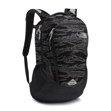 The North Face Vault Backpack - Black Textured Camo/Black