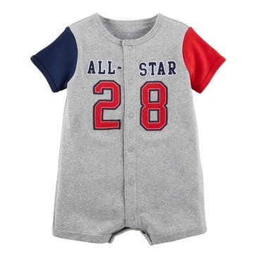Carter's Baby Boys' Snap Up Romper, All Star
