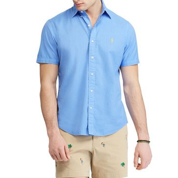 Polo Ralph Lauren Men's Short Sleeve Classic Oxford Button Down Shirt