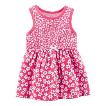 Carter's Baby Girls' Knit Dress, Red Floral