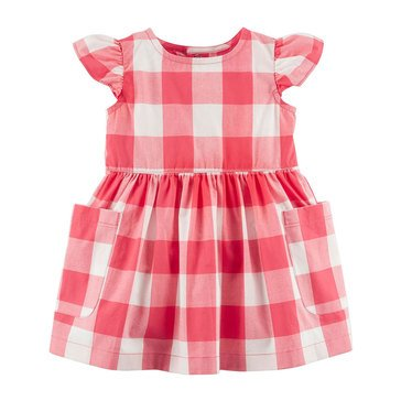 Carter Baby Girls' Everyday Dress, Checker
