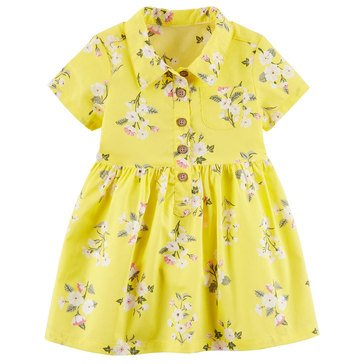 Carter's Baby Girls' Floral Yellow Dress