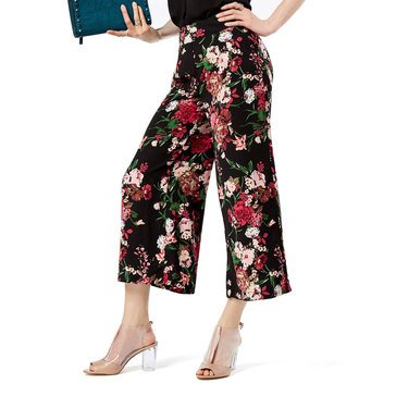 I.N.C. International Concepts  Women's Floral Wide Leg Cropped Pants