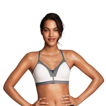 Maidenform Sport Zip Front Racerback WireFree Sports Bra