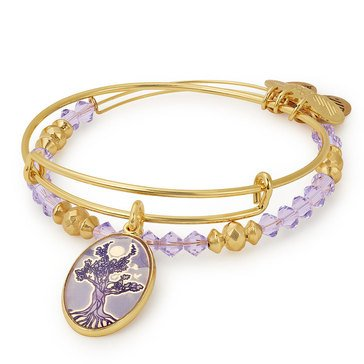 Alex and Ani Art Infusion Tree of Life Expandable Bangle, Gold Finish