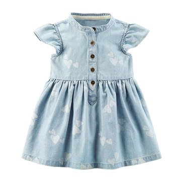 Carter's Baby Girls' Everyday Dress, Chambray