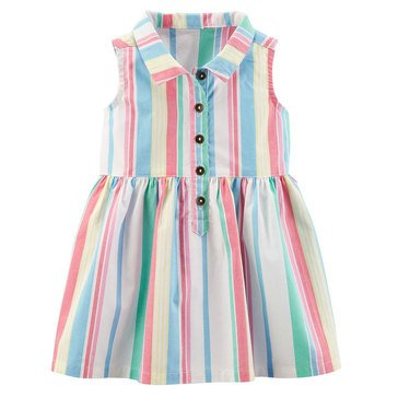 Carter's Baby Girls' Everyday Dress, Multi Stripe