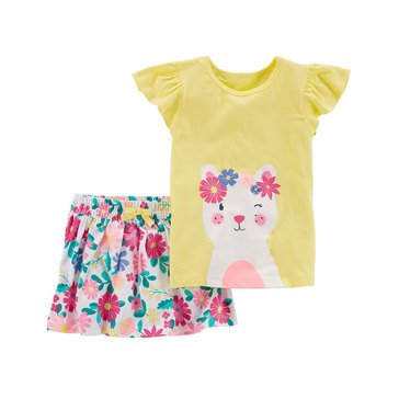Carter's Baby Girls' 2-Piece Skirt Set