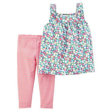 Carter's Baby Girls' 2-Piece Pant Set