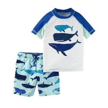 Carter's Baby Boys' 2-Piece Swim Set, Whale