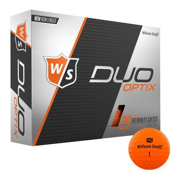 Wilson Duo Optix Orange Golf Balls, 12-Pack