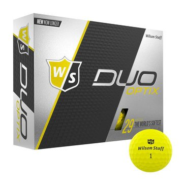 Wilson Staff Duo Soft Optix Yello Golf Balls, 12-Pack