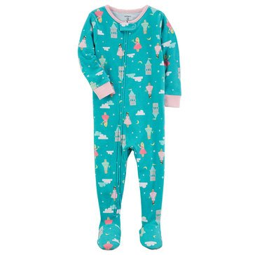 Carter's Baby Girls' 1-Piece Cotton Pajamas, Princess