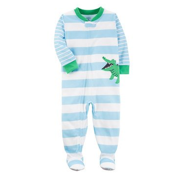 Carter's Baby Boys' 1-Piece Poly Pajamas, Alligator