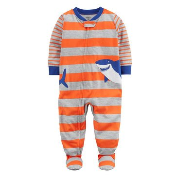 Carter's Baby Boys' 1-Piece Poly Pajamas, Shark
