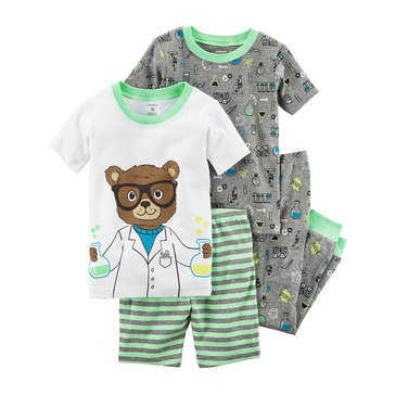 Carter's Baby Boys' 4-Piece Cotton Pajamas Set, Science