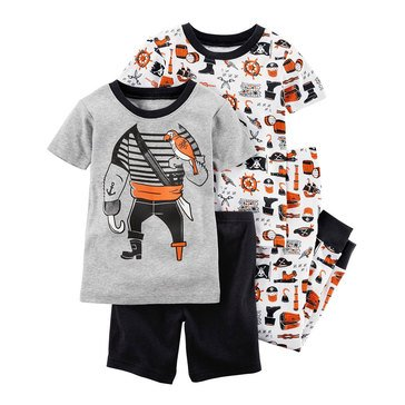 Carter's Baby Boys' 4-Piece Cotton Pajamas Set, Pirate