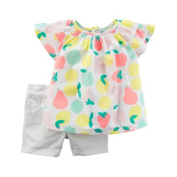 Carter's Baby Girls' 2-Piece Short Set, Collection 3