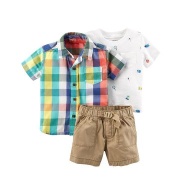 Carter's Baby Boys' 3-Piece Short Set, Collection 3