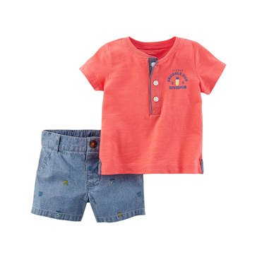 Carter's Baby Boys' 2-Piece Short Set, Collection 3