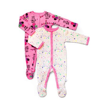 Rosie Pope Baby Girls' 2-Pack Coverall