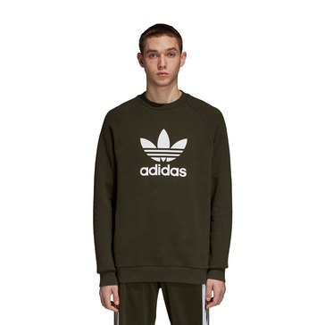 Adidas Men's Originals Trefoil Long Sleeve Trifold Crew Neck Sweatshirt