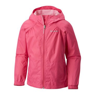 Columbia Little Girls' Switch Back Rain Jacket, Pink Ice
