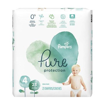 Pampers Pure Protection Mega-Pack 23-Count Diapers, Size 4
