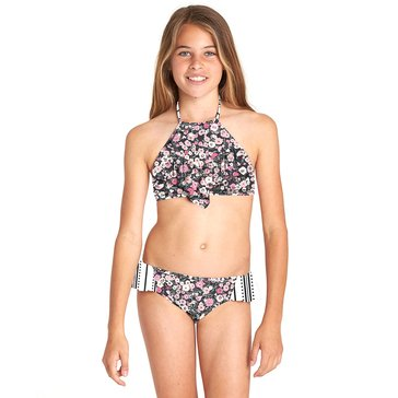 Billabong Little Girls' High Neck Swimsuit